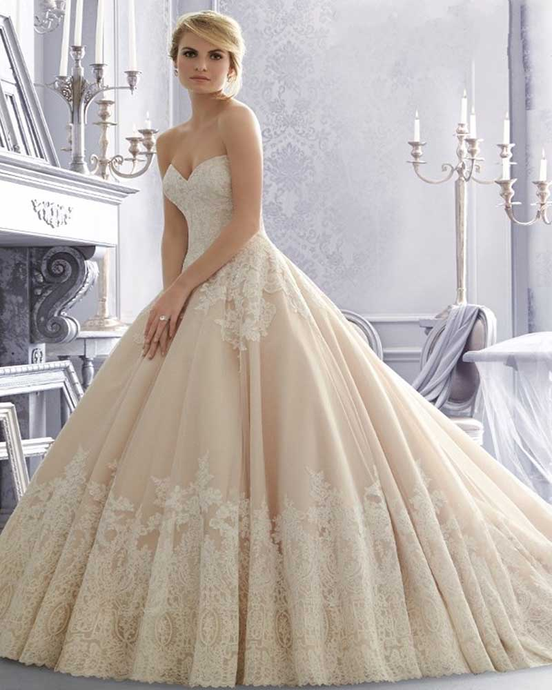Champagne Lace Wedding Gown: Aliexpress.com : Buy Vestidos De Novia 2015 Champagne Lace