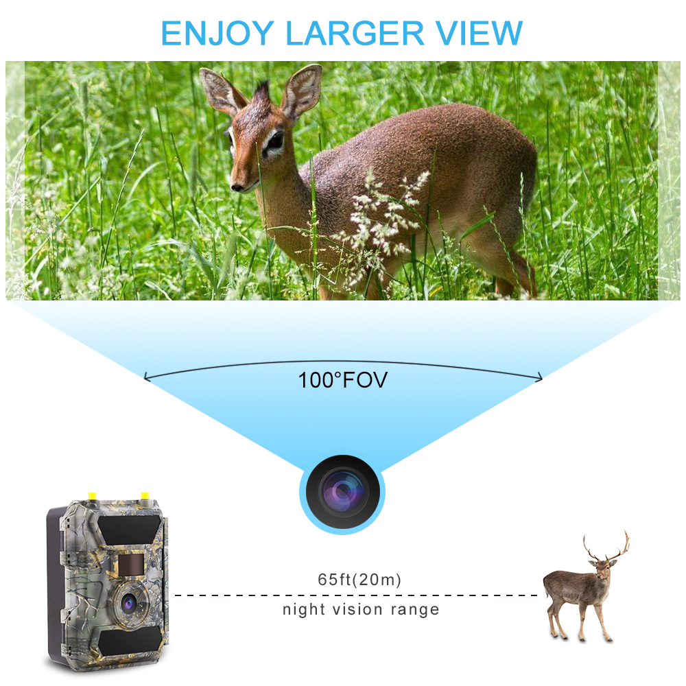 4G LTE 1080P APP Outdoor Waterproof Game Hunting Security Solar Camera