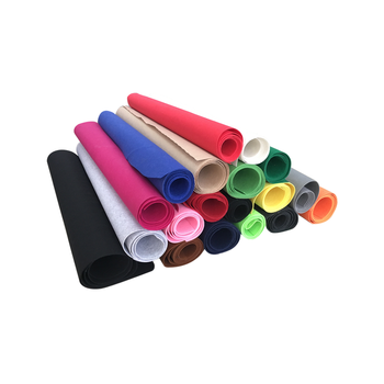 China Wholesale 1-5mm Thickness Soft Polyester Felt Fabric Roll