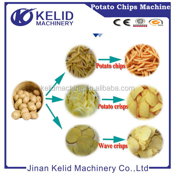 Popular small scale fried potato chips making machine