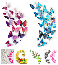 12pcs 3D Butterfly wall stickers home decor Sticker on the Art Wall decal Mural for creative vintage Home appliances kids rooms