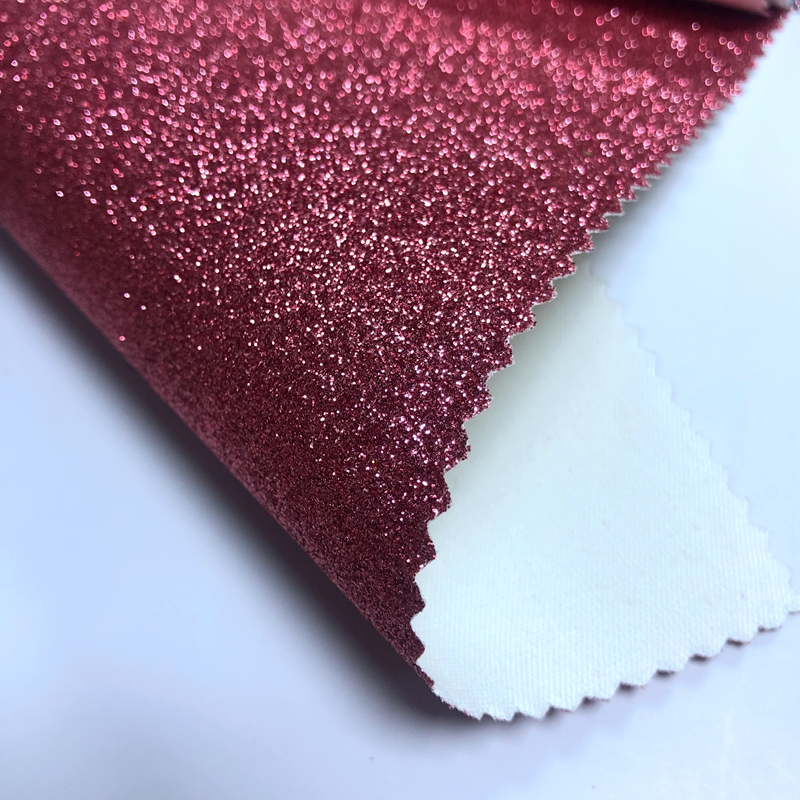 Different color PVC glitter vinyl fabric with TC backing and cheaper price