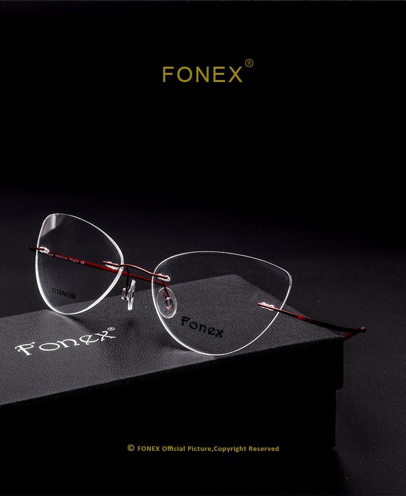 237d0da36b80 ... fonex-brand-designer-women-fashion-luxury-rimless-titanium- ...