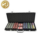 Chip+playing cards+dice+dealer+aluminum case factory plastic 11.5g poker chip 500pcs gambling set