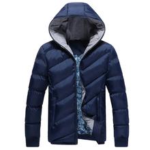 Pánská zimní prošívaná bunda s kapucí