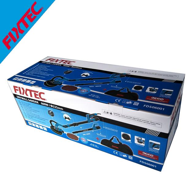 Электрическая шлифовальная машина FIXTEC 600 Вт 225 мм, шлифовальная машина для гипсокартона со светодиодом
