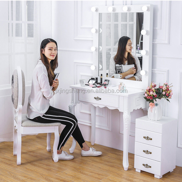 Salon Lighted Makeup Vanity Make Up Dressing Table With Lighted Mirror Buy Dressing Table With Lighted Mirror Lighted Makeup Vanity Make Lighted Vanity Product On Alibaba Com