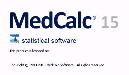 Совершенное действие MedCalc 15.8
