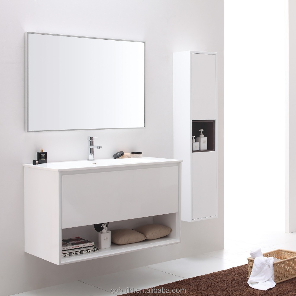 Lux 001a Modern White Wood Side Cabinet And Mirror Cabinet Wall Mounted Bathroom Cabinet Single Sink Bath Vanity Buy Bathroom Cabinet Wall Mounted Bathroom Cabinet Modern White Wood Side Cabinet And Mirror Cabinet Bathroom Cabinet