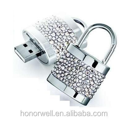 Christmas Gifts Lock Shape Jewelry USB Flash Memory - USBSKY | USBSKY.NET