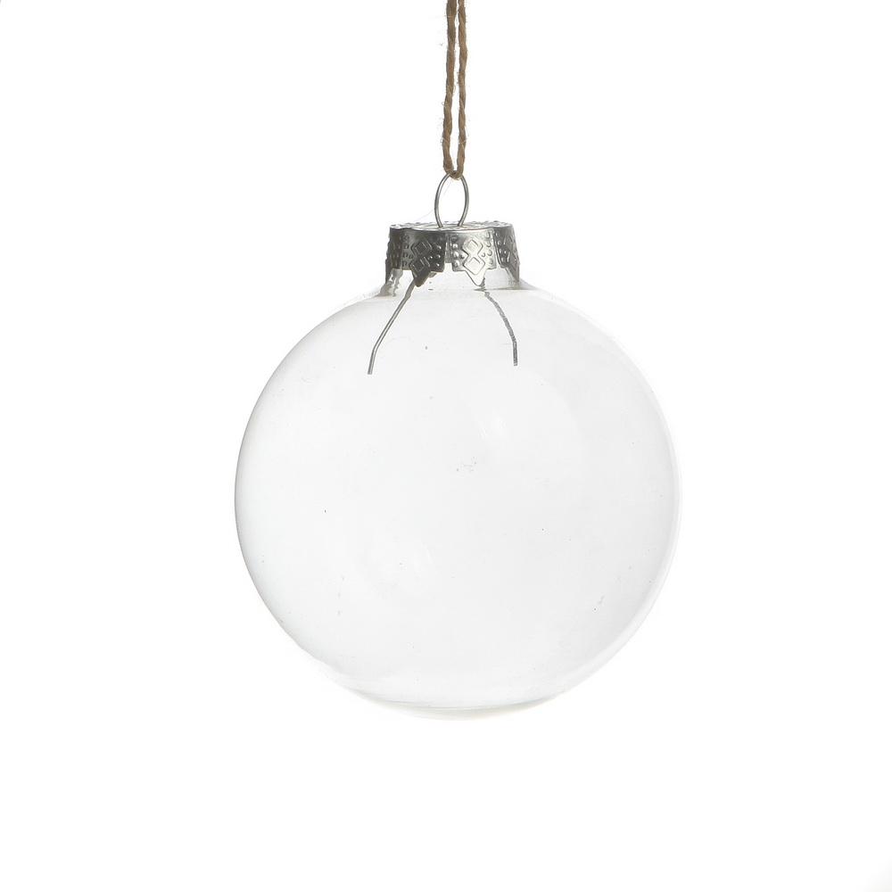 Bulk Christmas Ornaments Balls: Wholesale! Dia6cm Wedding Bauble Clear Glass Balls