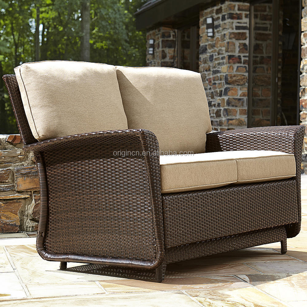 deluxe parkside style wicker outdoor garden patio loveseat double seat glider buy glider patio glider bench outdoor glider product on alibaba com