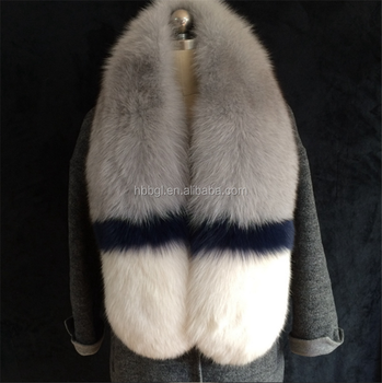 Luxury fancy real mink/fox/raccoon long collar for women/men coats