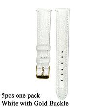 5 шт. X 12 мм 14 мм 16 мм 18 мм 20 мм кожаный ремешок для часов розовый бежевый синий черный белый ремешок для часов из натуральной кожи ремешок для ж...(Китай)