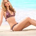 Flower Printing Bathing Suit Two Piece Halter Floral Bikini Push Up Vintage Small Size Swimwear bodysuit