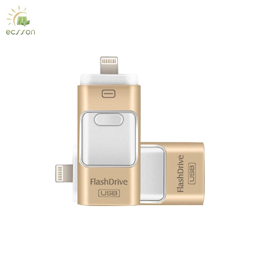 Super mini 64gb usb flash drive , 3 in 1 Aluminum USB flash drive 16/32/64gb for iphone USB OTG - USBSKY   USBSKY.NET