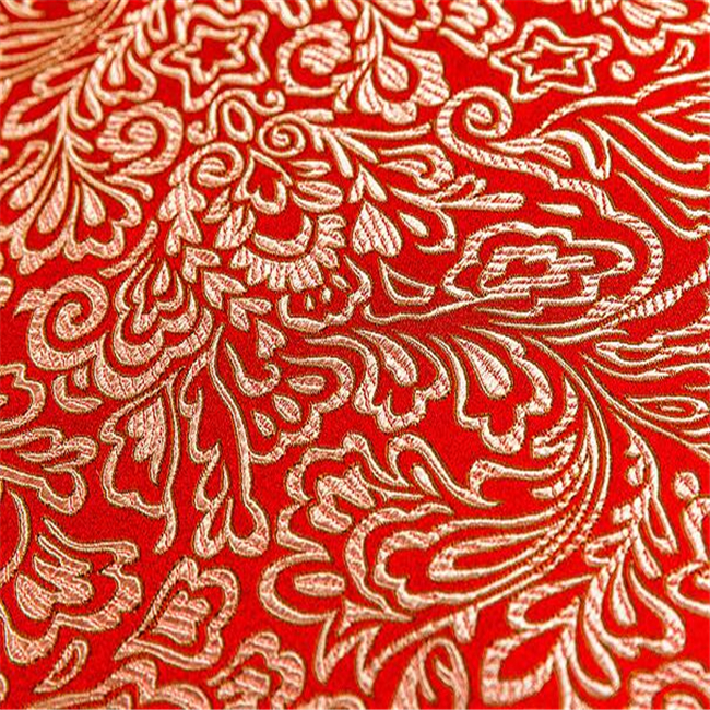 Chinese Style Damask Fabric Brocade Jacquard Fabric in 100% Polyester for Dress Clothing