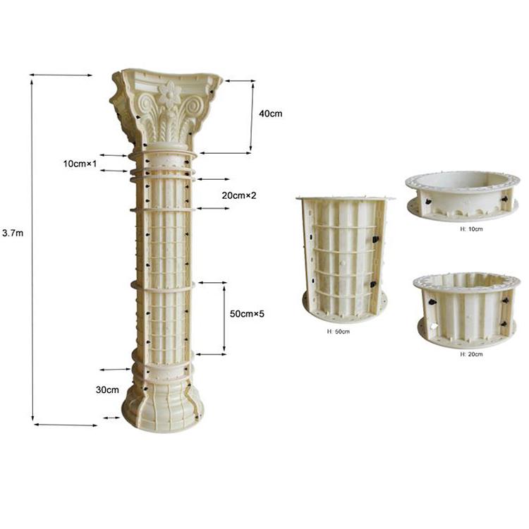 30cm diameter roman pillars column molds for sale