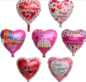 18 Inch Heart Happy Wedding Decorations Helium Party Love Valentines Day Balloons Foil Balloons