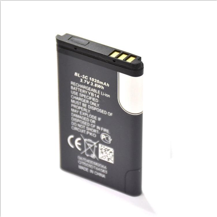 Оригинальная батарея для мобильных телефонов Nokia BL-5C, 1020 мАч, 523450ar