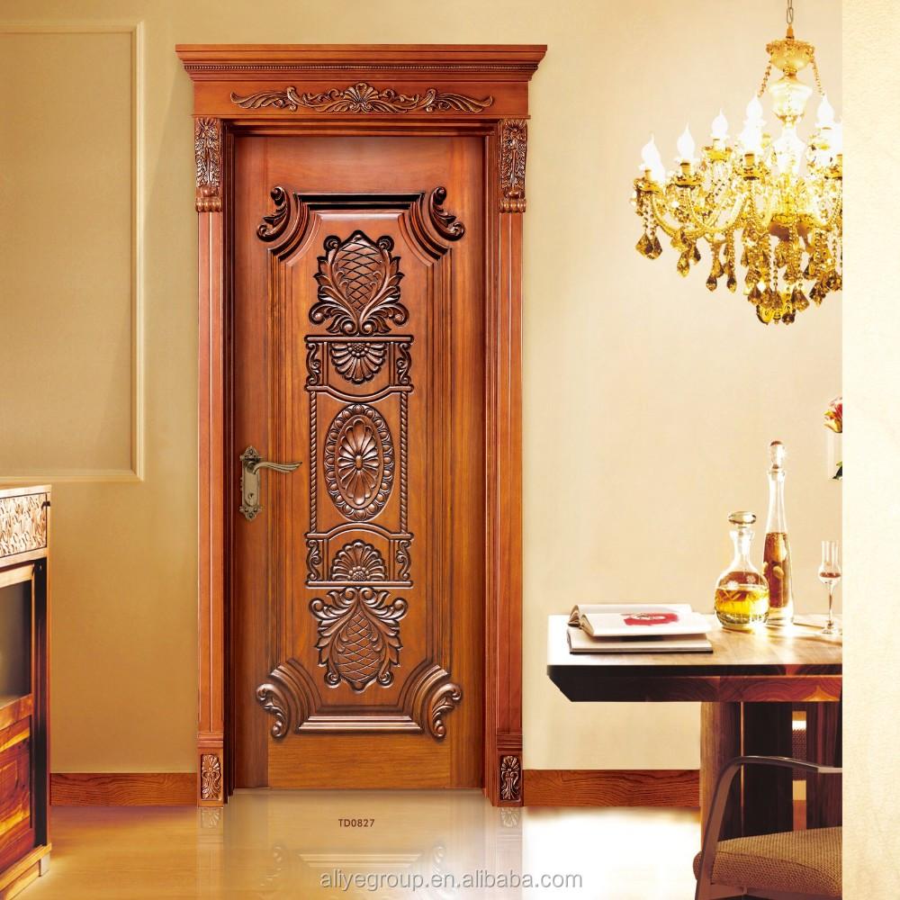 American Style Luxury Wooden Single Main Door Design