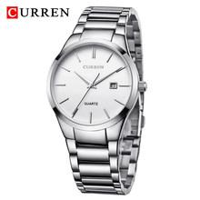 Часы CURREN Мужские, модные, тонкие, водонепроницаемые, со стальным ремешком, кварцевые, деловые, 8106(Китай)