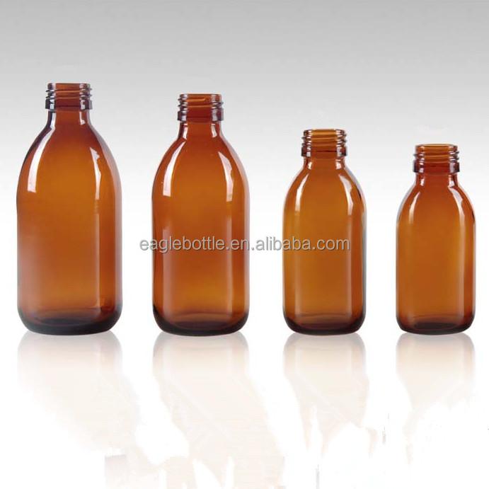 30 мл 60 мл 100 мл 125 мл 150 мл 200 мл янтарные стеклянные бутылки фармацевтического класса, янтарный сироп стеклянная бутылка для лекарств