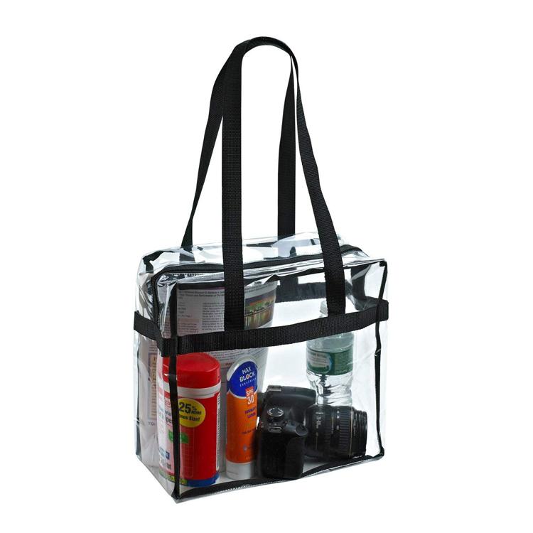 Wholesale fashion Unisex pvc Clear Shoulder Beach handbag clear totes handbag