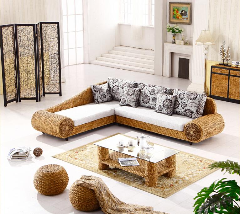 rattanm bel wohnzimmer. Black Bedroom Furniture Sets. Home Design Ideas