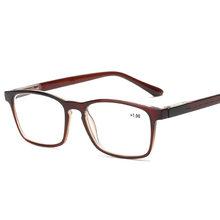 Модные мужские очки для чтения по рецепту, женские простые квадратные очки для дальнозоркости, дальнозоркости, ультралегкие очки для чтени...(Китай)