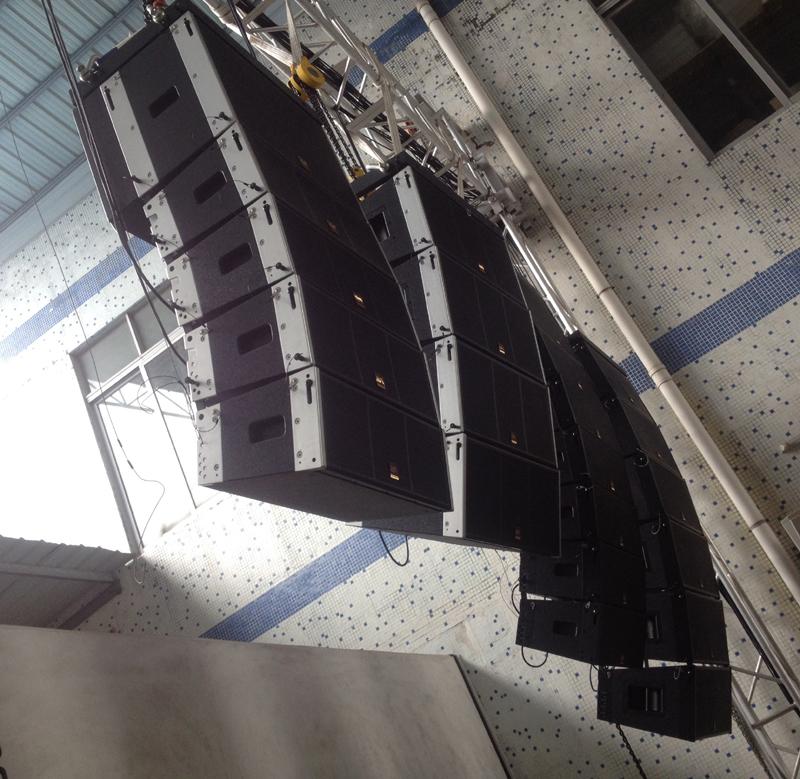 Трехходовой RMS1000W спортзала линейный громкоговоритель