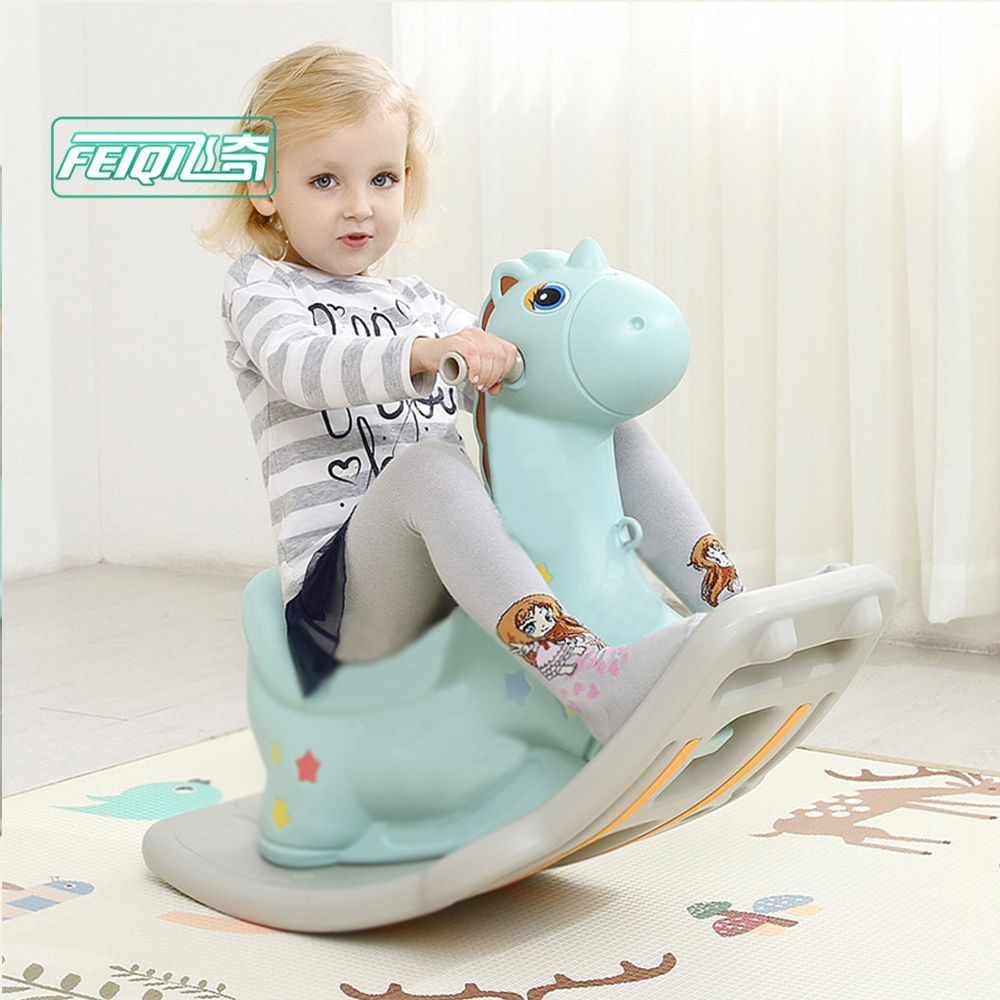 Baby's unicorn modern rocking horse rocking chair,rich toys rocking horse