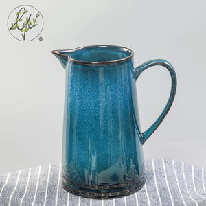 Traditional Reactive Craft Chinese Personalize Ceramic Jug