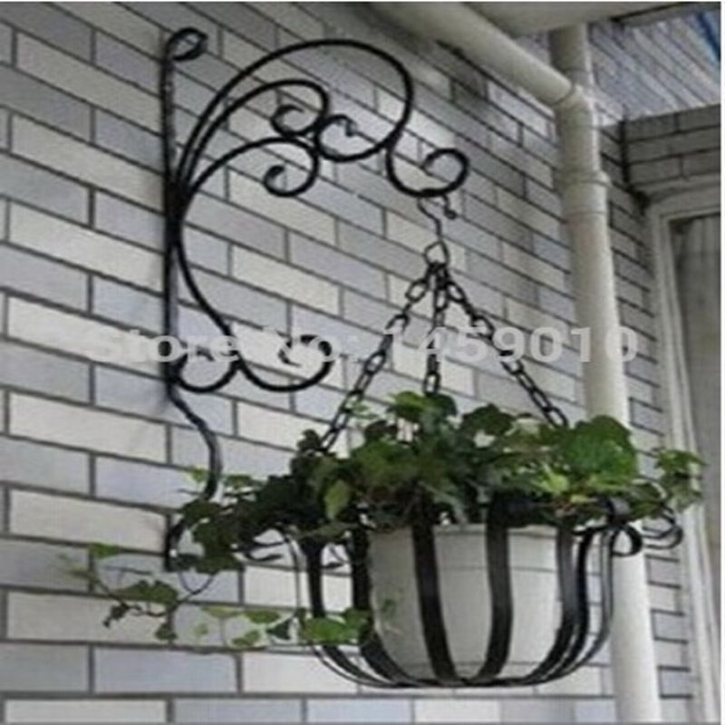 NEW arrival! wrought iron wall hanging pot rack basket