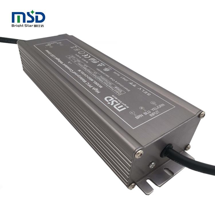 High power design 200W power supply for led strip 12V 24V 36V