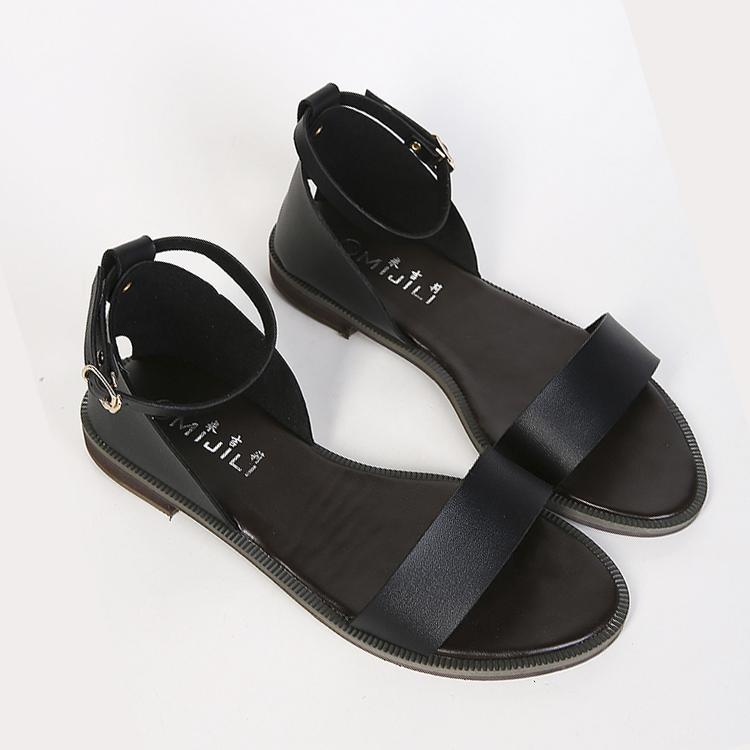 Womens Open Toe Flat Shoes