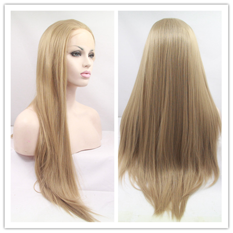 Top Quality Synthetic Lace Front Wigs Long Silk Straight