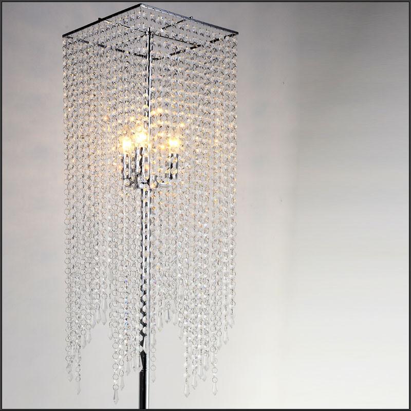 Самая элегантная Хрустальная Напольная Лампа, современная хрустальная Напольная Лампа-занавеска, модная декоративная лампа FL10008