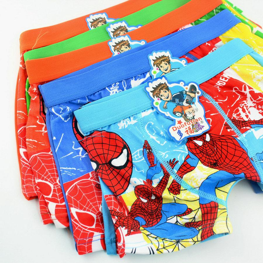 c615c37fb04e baby child cotton underwear kid s cartoon spider man panties spiderman boy  s boxer briefs freeshipping