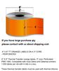 """4 """"X6"""" 1000 Étiquettes Orange"""