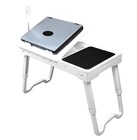 Foldable Computer Laptop Desk Notebook Table School Furniture with Cooling Fan Color Box Office, Home 1.9kg ABS