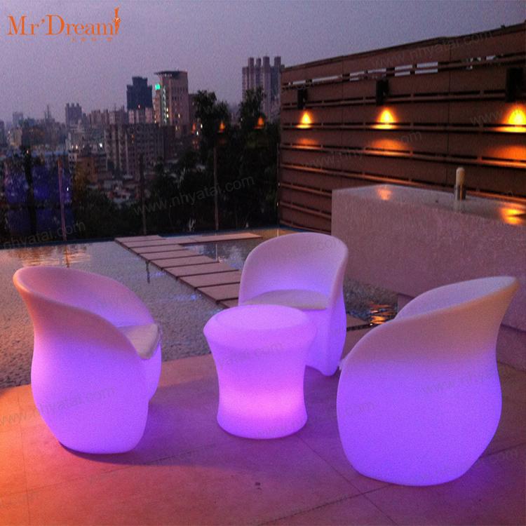 Mr.Dream водонепроницаемый акриловый светодиодный светящийся стул с дистанционным управлением, меняющий цвет, для ночного клуба