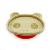 Fish shape design of bamboo baby feeding plate