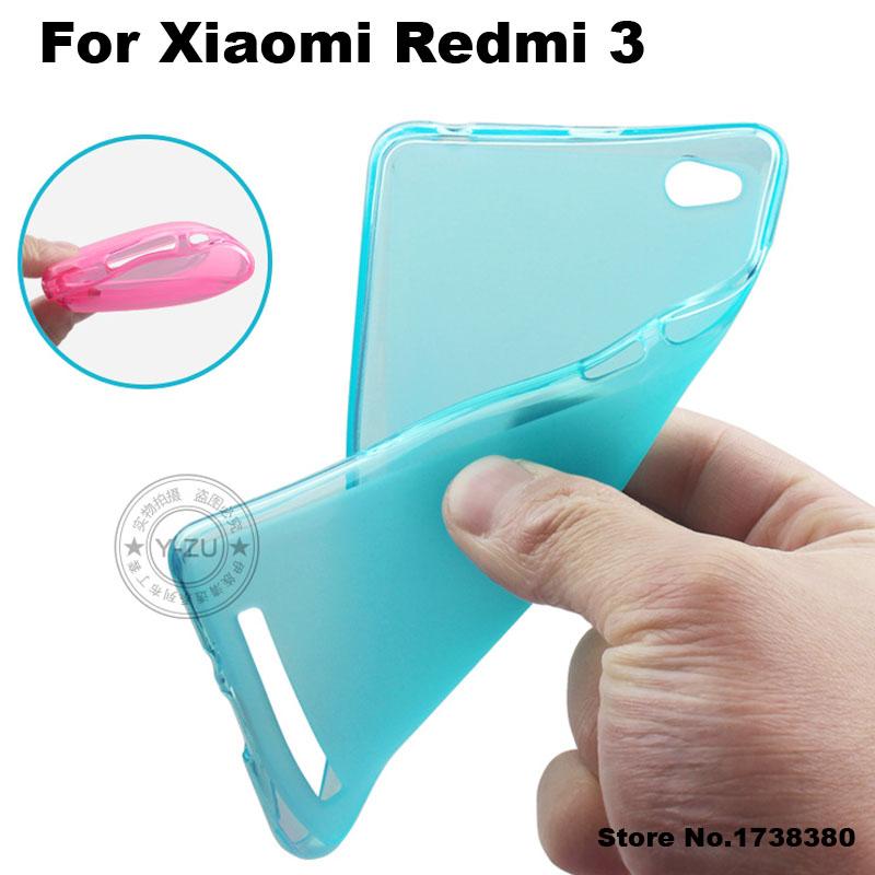 Xiaomi Redmi 3 Case Cover Matte TPU Soft Back Cover Phone Case For Xiaomi Redmi 3