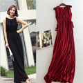 HOT summer maternity clothing High elasticity100 cotton modal cotton dress for pregnant women ankle length maternity