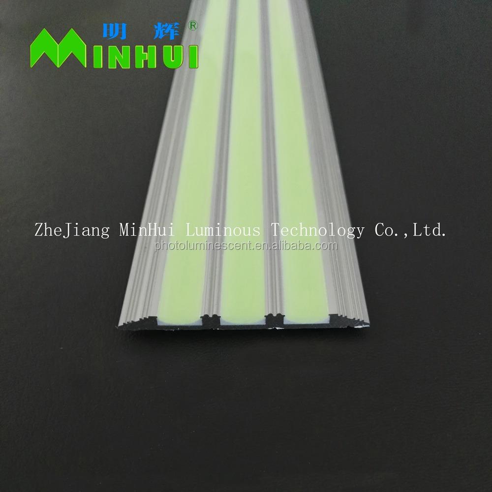 Люминесцентная L-образная алюминиевая противоскользящая лестничная граница