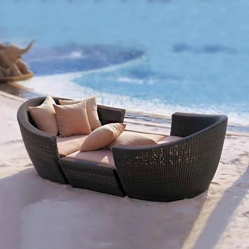 Современный дизайн, водонепроницаемый садовый уличный полиэтиленовый ротанговый Подсолнечник