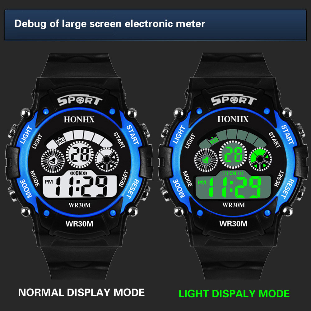Watches Imported From Abroad #5002waterproof Children Boy Digital Led Quartz Alarm Date Sports Wrist Watch Dropshipping New Arrival Freeshipping Hot Sales