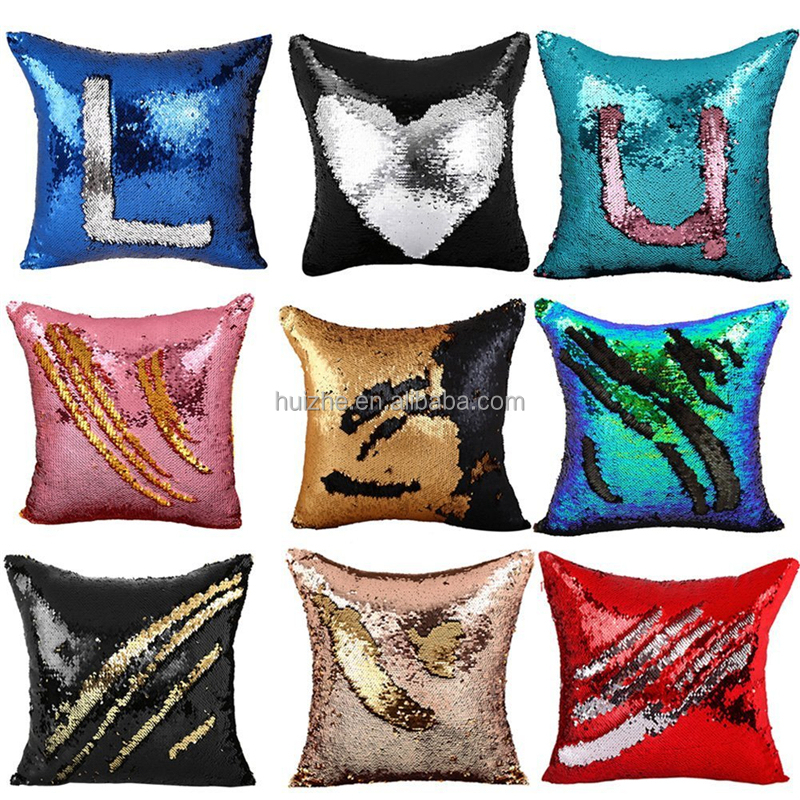 Mermaid Pillow Sequin PILLOW cover Throw Pillow MAGICAL color change REVERSIBL Q