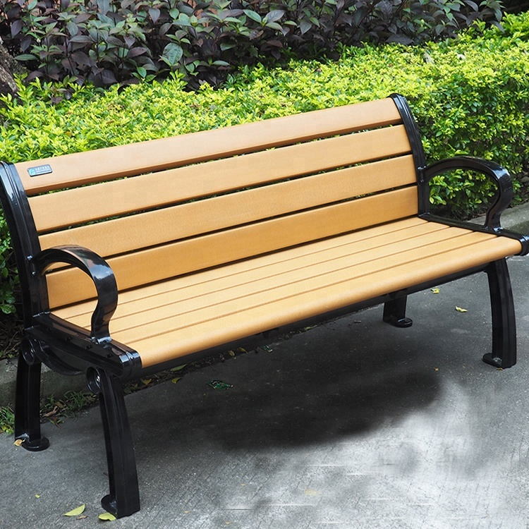 Patio Street Furniture Recycled Plastic Wooden Long Garden Outdoor Bench With Cast Aluminum Legs Buy Outdoor Bench Long Garden Bench Wood Bench With Back Product On Alibaba Com